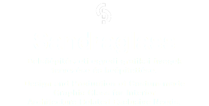  Sandraglass Belsőépítészeti egyedi grafikai üvegek tervezése és beépítettése. Design and Production of Costum-made Graphic Glass for Interior Architecture Related Exclusive Needs.